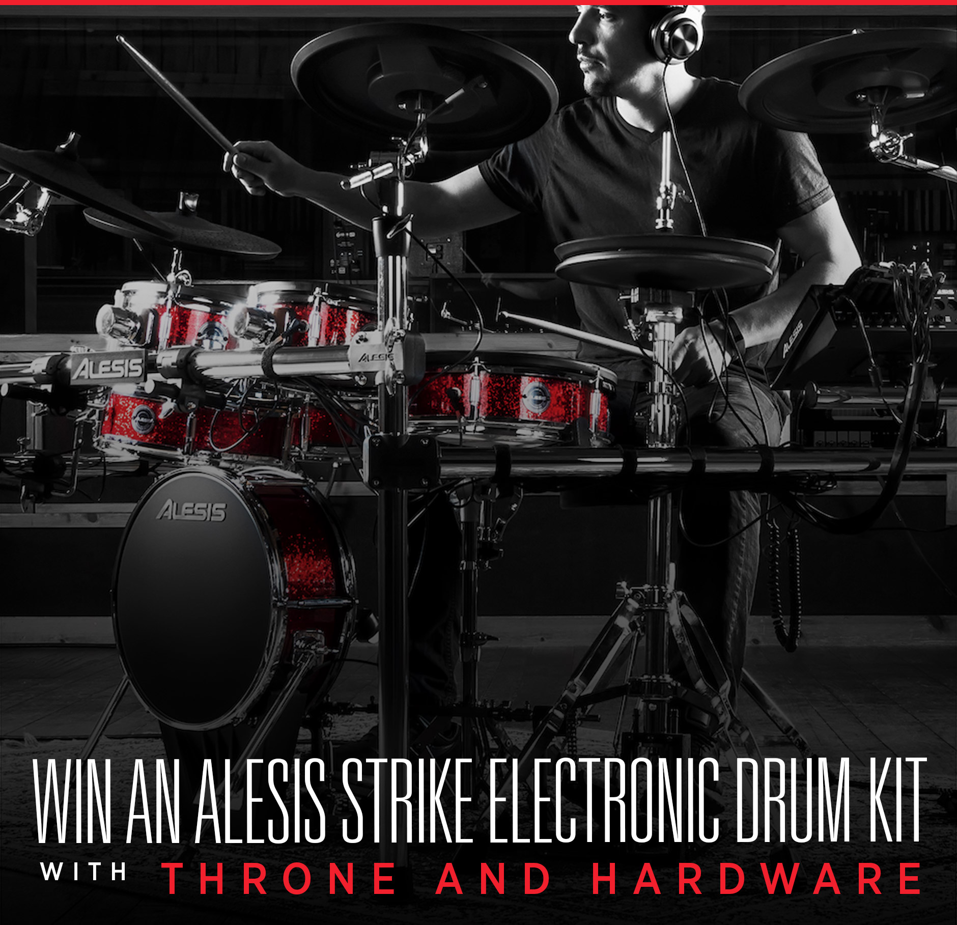 Alesis Strike Electronic Drum Kit with Throne and Hardware Giveaway