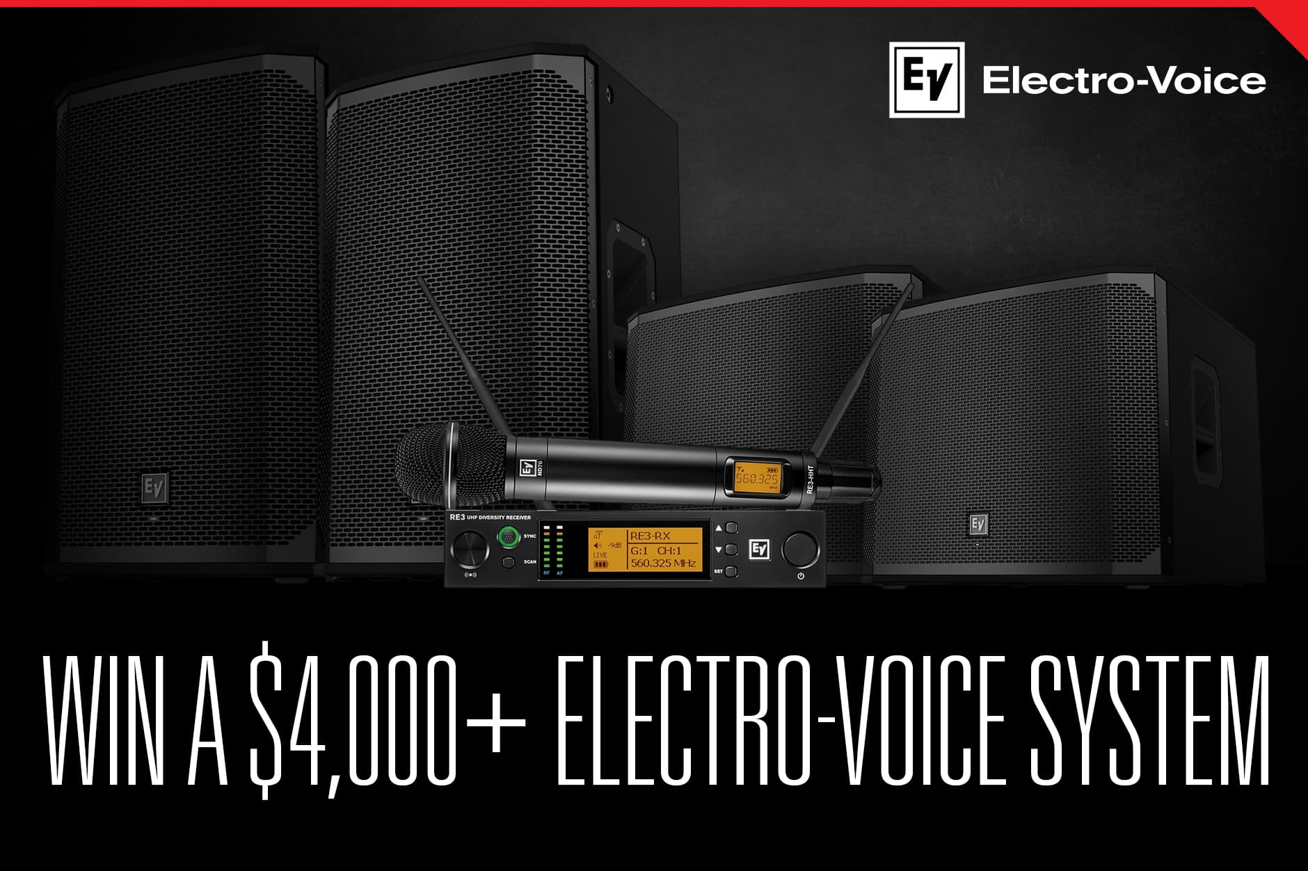 Electro-Voice PA + Wireless Mic System Giveaway