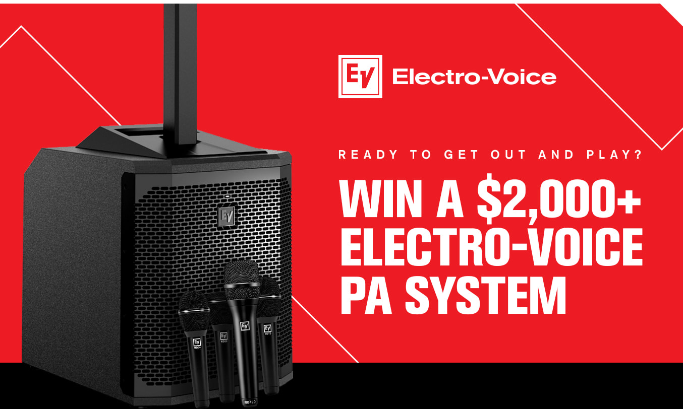 Win an Electro-Voice EVOLVE 30M PA + 4 Microphones from zZounds!