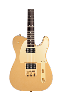 Squier J5 Signature Telecaster Electric Guitar in Front Gold