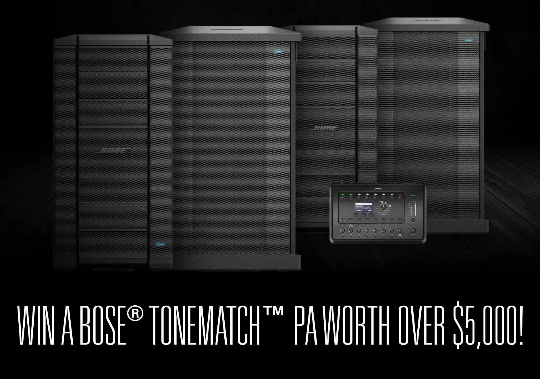 Bose ToneMatch PA System Giveaway